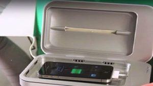 به کمک این شارژر میکروب کش تلفن همراهتان را تمیز کنید