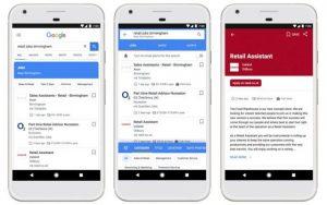 گوگل در نوار جستجوی خود برای کاربرانش شغل می یابد